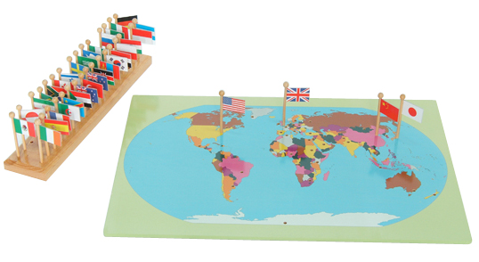 mapa z flagami
